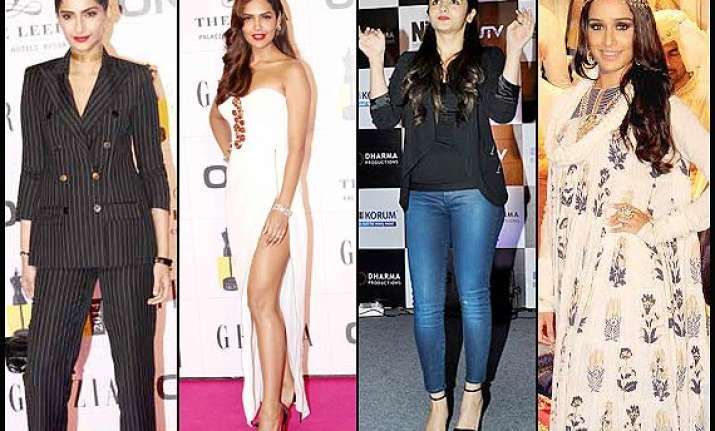this week s fashion report alia shraddha sonam at their
