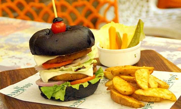 new food a black burger