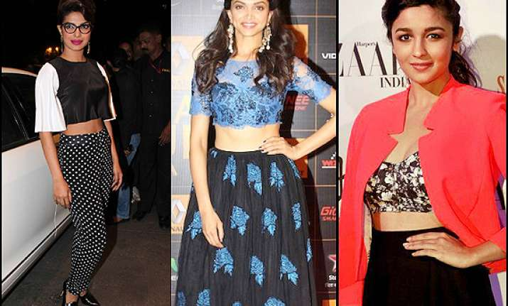 deepika alia priyanka bollywood babes in crop tops see pics