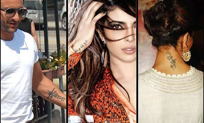 deepika priyanka saif celebs with funky body tattoos see