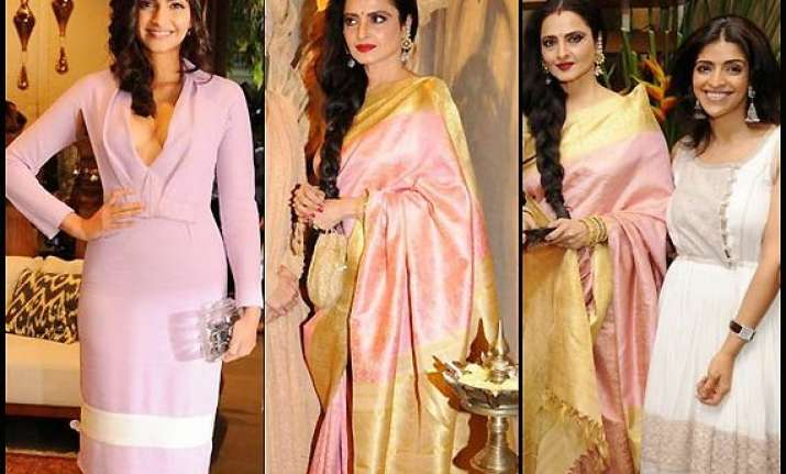 sonam rekha high on style at a store launch see pics