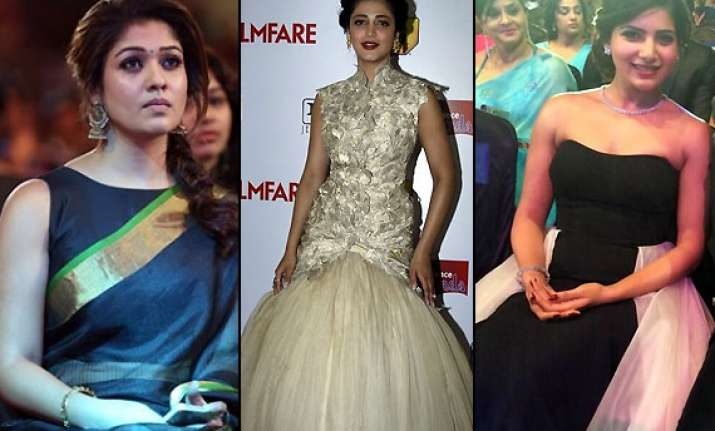 shruti hassan samantha nayanthara turn stunners at filmfare
