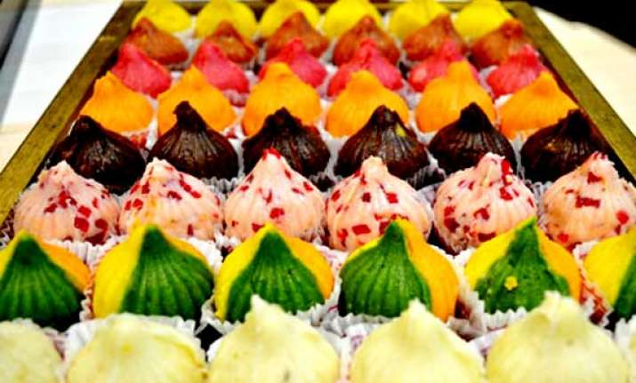 ganesh chaturthi now offer chocolate strawberry modaks to