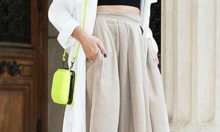 full midi skirts trending as spring fashion see pics