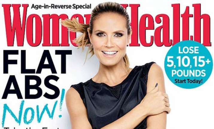 hot heidi klum reveals secret behind her toned body see pics