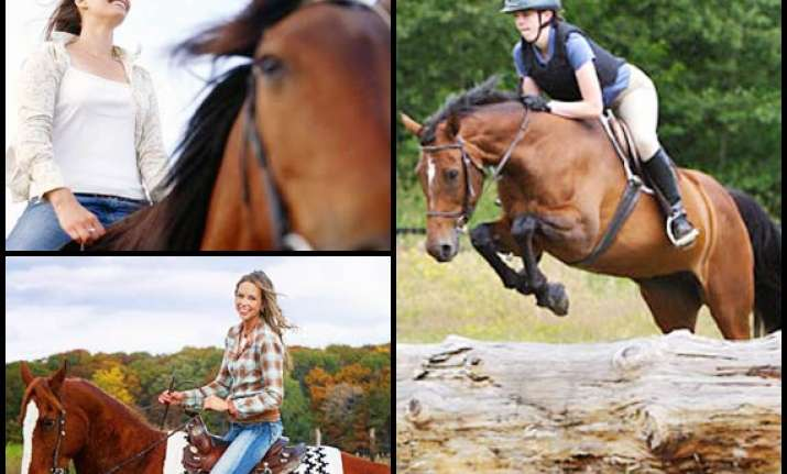 horse riding a fun workout see pics