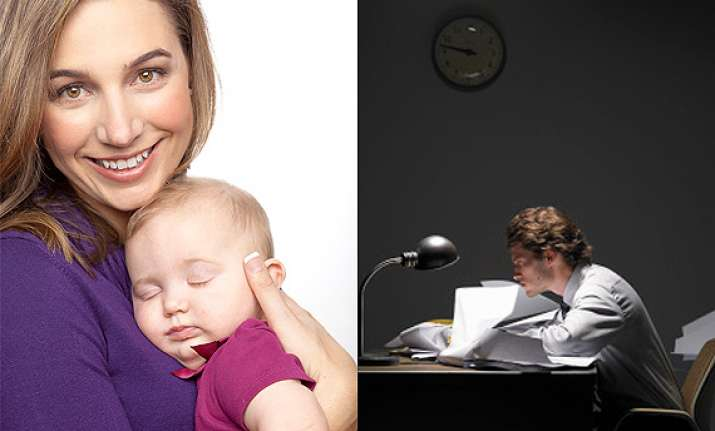 husband not involved in parenting blame his office see pics