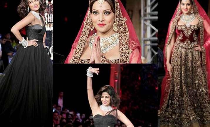 icw 2014 grand finale bipasha turns beautiful bride
