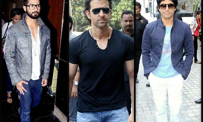 hrithik farhan shahid spread their charm at iifa press