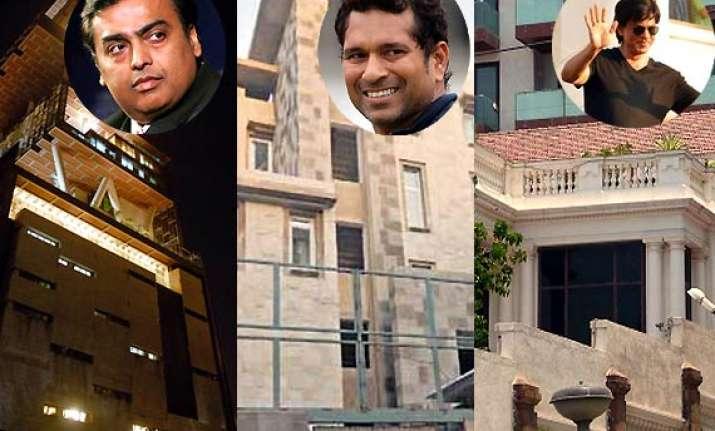 srk ambani tendulkar who s got the costliest abode view pics