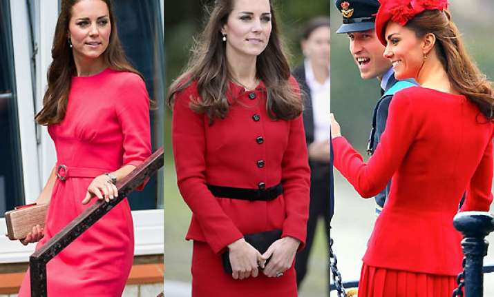 kate middleton s love for red kick starts a trend worldwide
