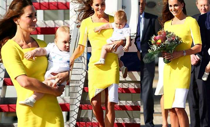 kate middleton s yellow dress worn during royal tour
