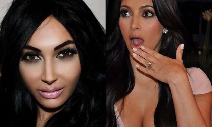ouch woman turns herself into exact copy of kim kardashian