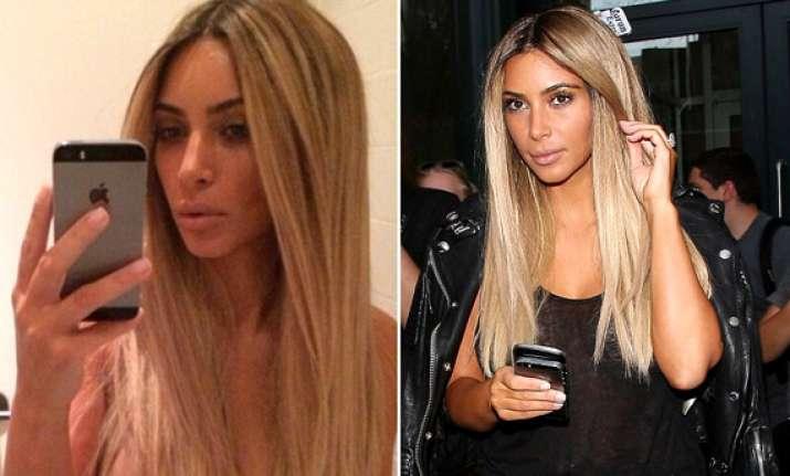 omg kim kardashian goes back to her blonde days see pics