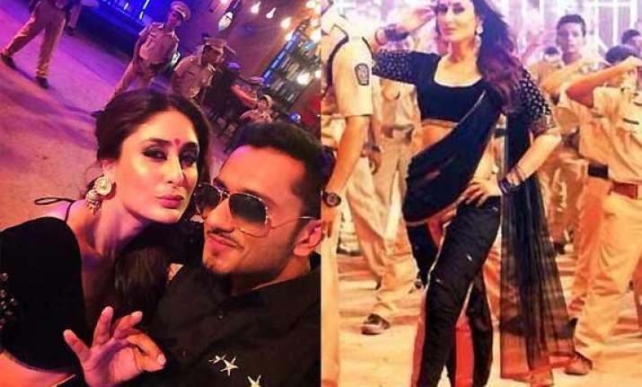 manish malhotra styles kareena kapoor for singham 2 song