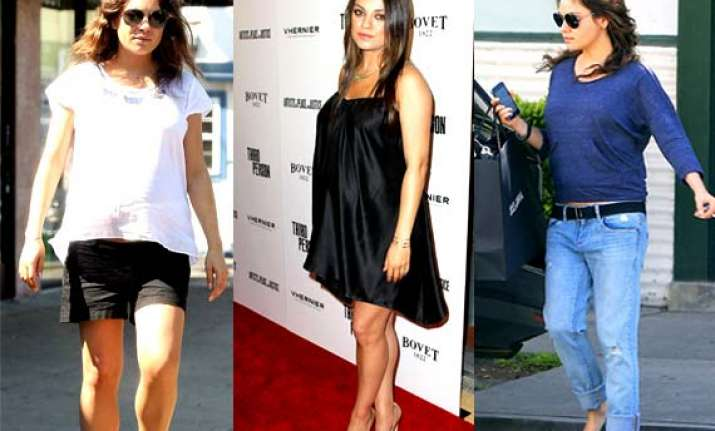 mila kunis pregnancy style stay comfy stay chic see pics