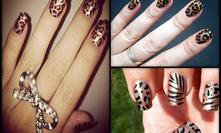 get a roary look with chic leopard print nails view pics