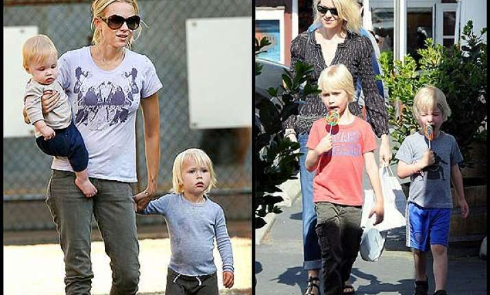 naomi watts takes fashion tips from sons