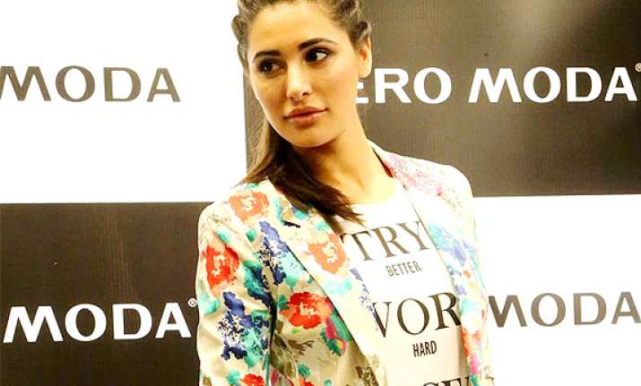 nargis fakhri makes stylish appearance in capital