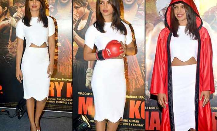 priyanka packs a power punch in alexander mcqueen dress at