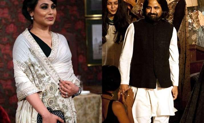 rani mukerji gets sabyasachi to style her look for mardaani