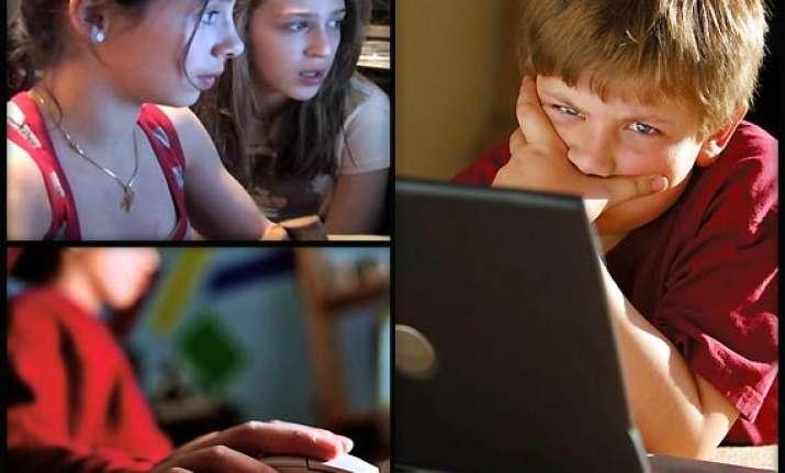 young british school kids visiting adult websites often