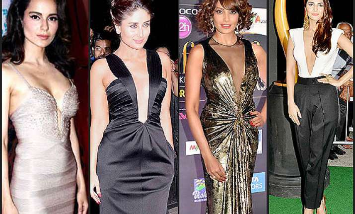 sexy necklines latest fad among bollywood actresses see pics