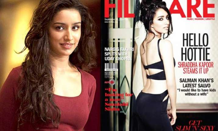 shraddha kapoor seduces in black covers filmfare september