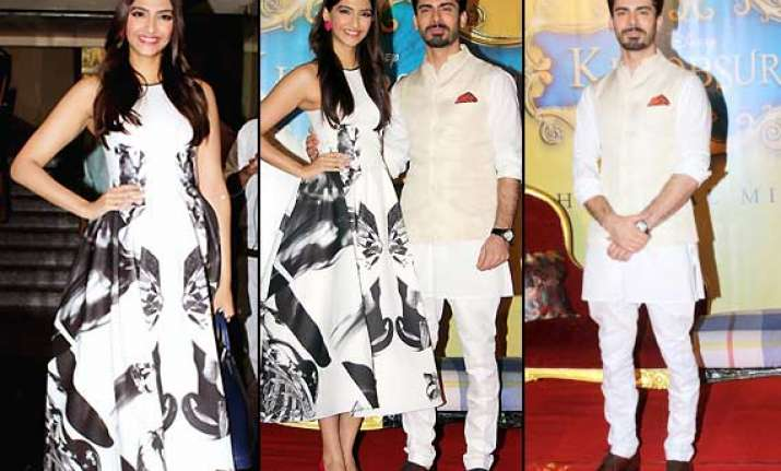 sonam turns disney beauty as fawad charms all with his