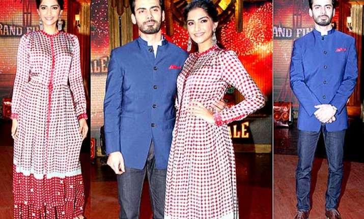 khoobsurat couple sonam turns mis fit beauty fawad looks