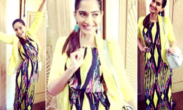 sonam kapoor in river island dress yay or nay