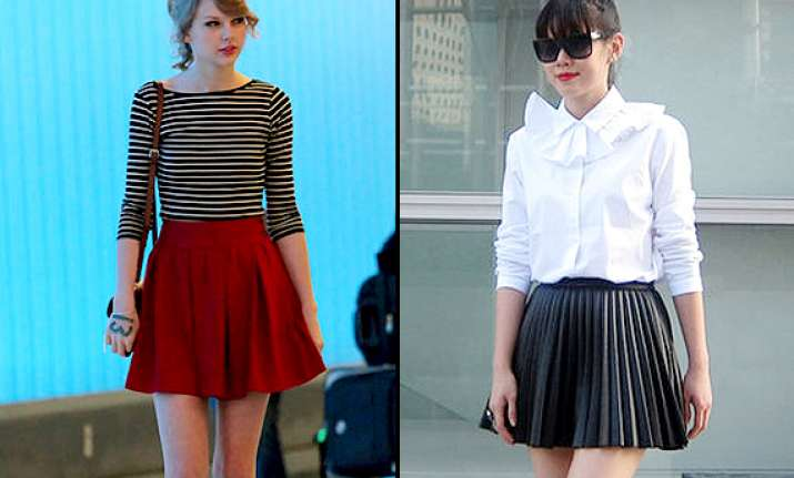 look like a pretty school girl with stylish pleated skirts