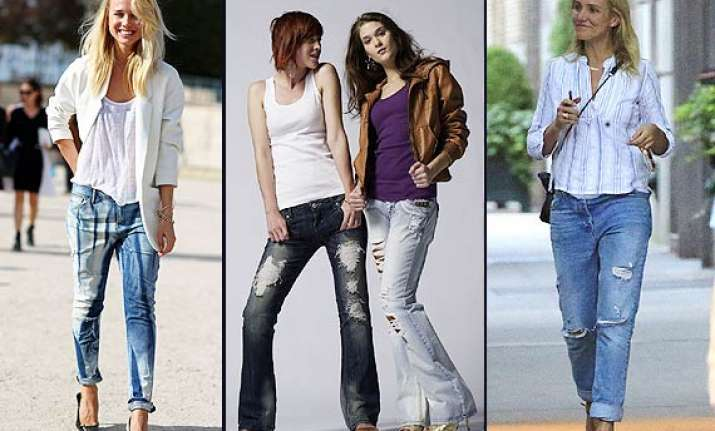make your boyfriend jeans more feminine