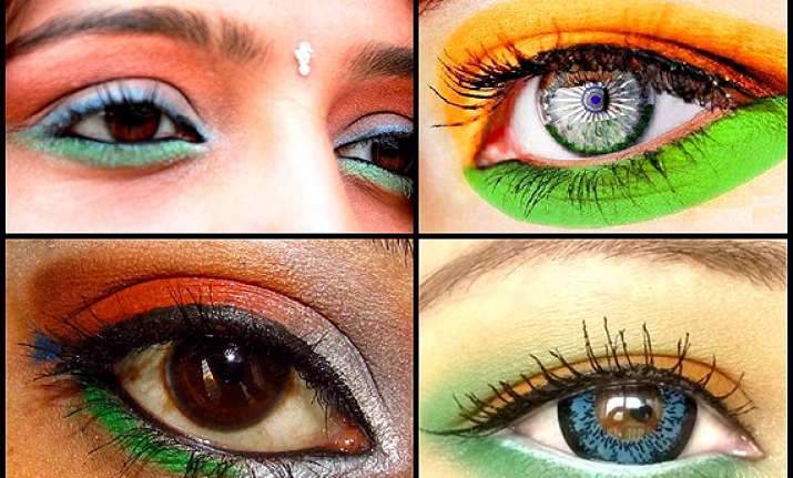 republic day special tri colour eye makeup see pics