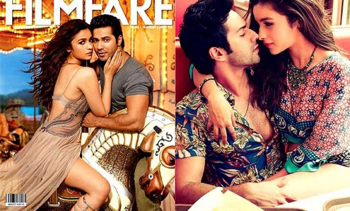 alia varun re define romance on the cover of filmfare see