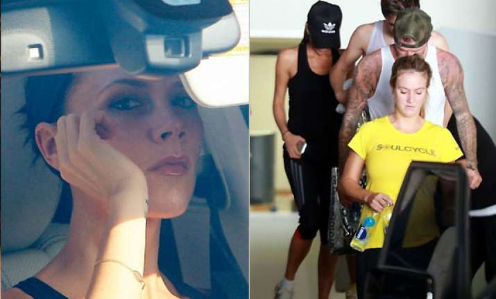 victoria beckham s workout regime with hubby david and sons