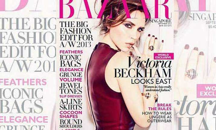 victoria beckham looks red hot graces cover of harper s