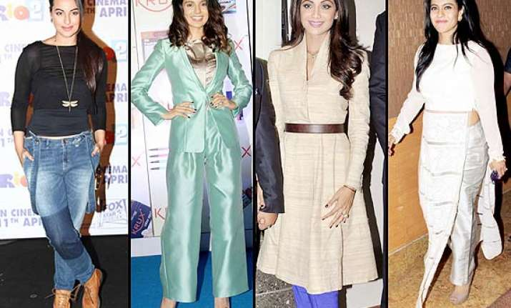 kangana shilpa sonakshi divas who commit fashion crime this