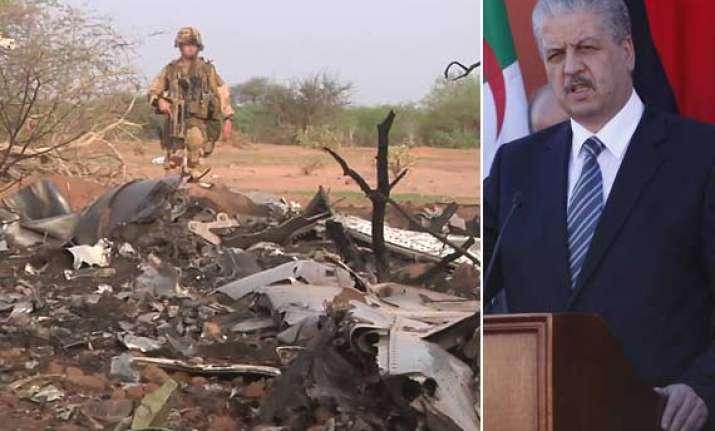algerian pm blames bad weather for plane crash