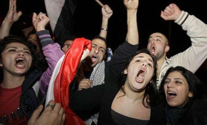 arabs celebrate hosni mubarak s exit
