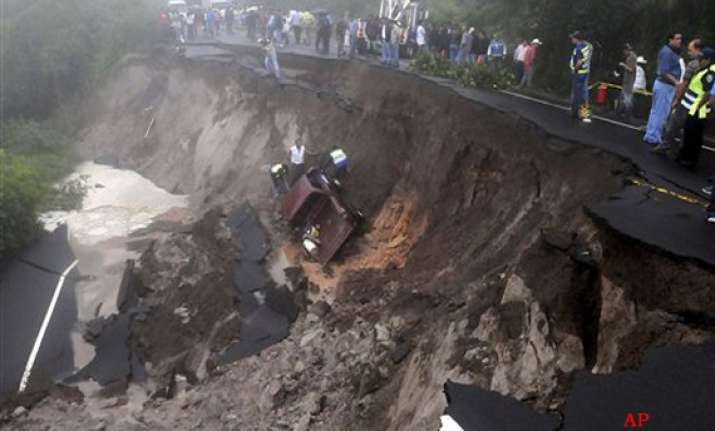 at least 84 dead due to heavy rains landslide in central