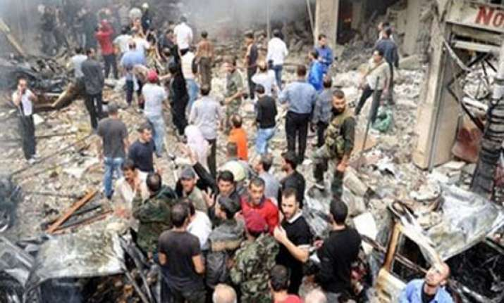 at least 50 syrian soldiers killed in suicide car bomb blast