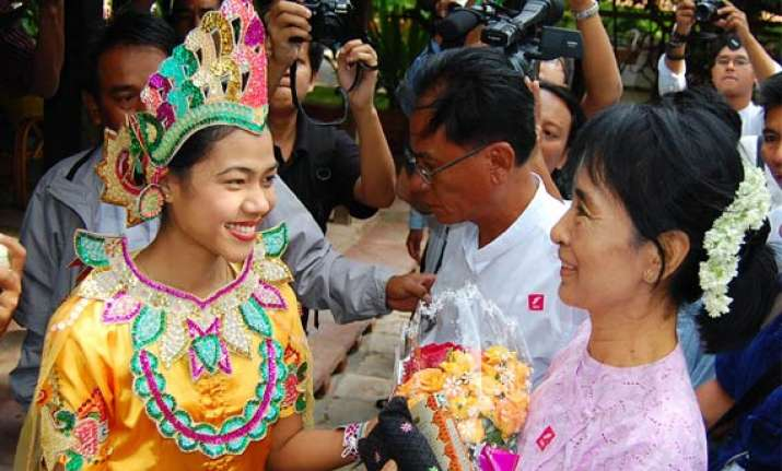 aung san suu kyi makes first trip into countryside