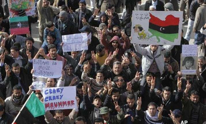 ban blasts gaddafi calls situation dangerous