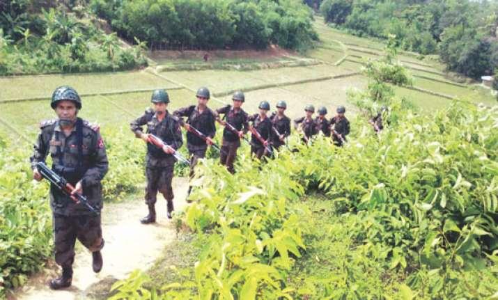 bangladesh myanmar exchange fire in fresh border tension