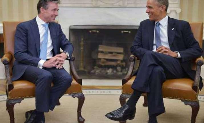 barak obama nato chief discuss ukraine afghanistan