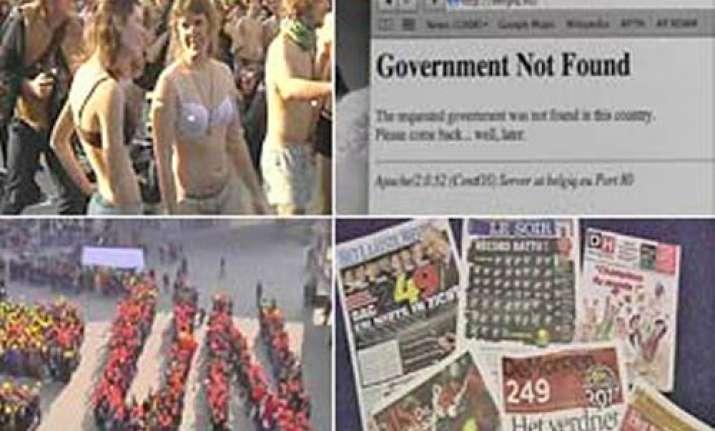 belgians demand a govt in their underwear eating fries
