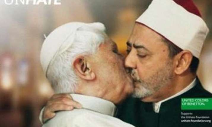benetton withdraws pope imam kiss ad after protest