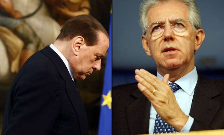 berlusconi quits monti said to be next premier