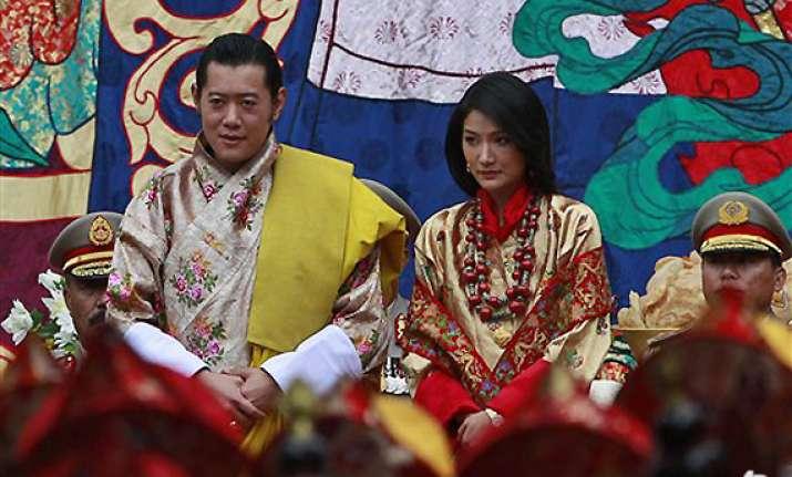 bhutan king weds commoner kingdom gets queen